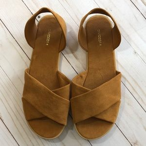 H&M Criss-Cross Camel Sandals - 39